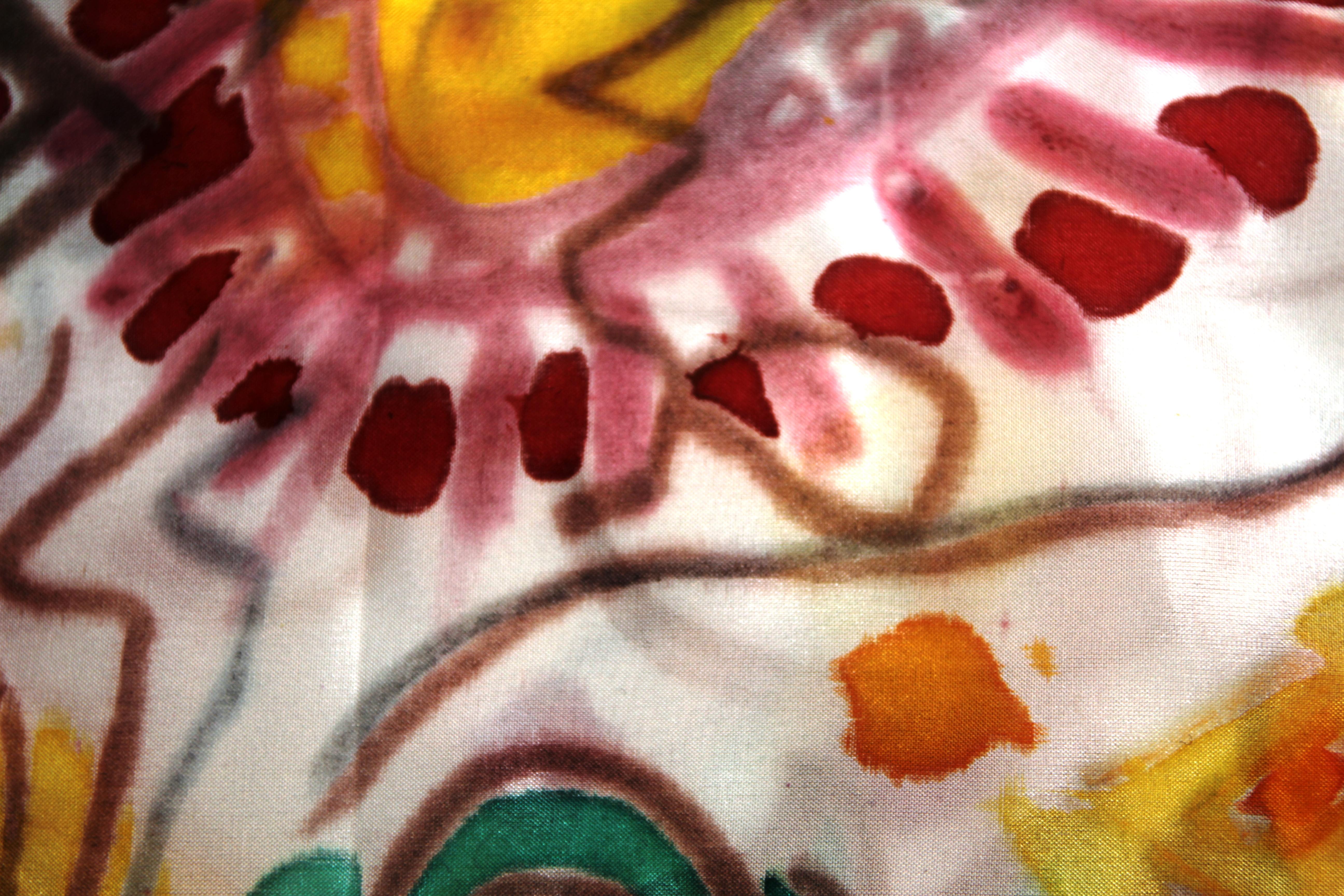 Coloruful asisn textile design