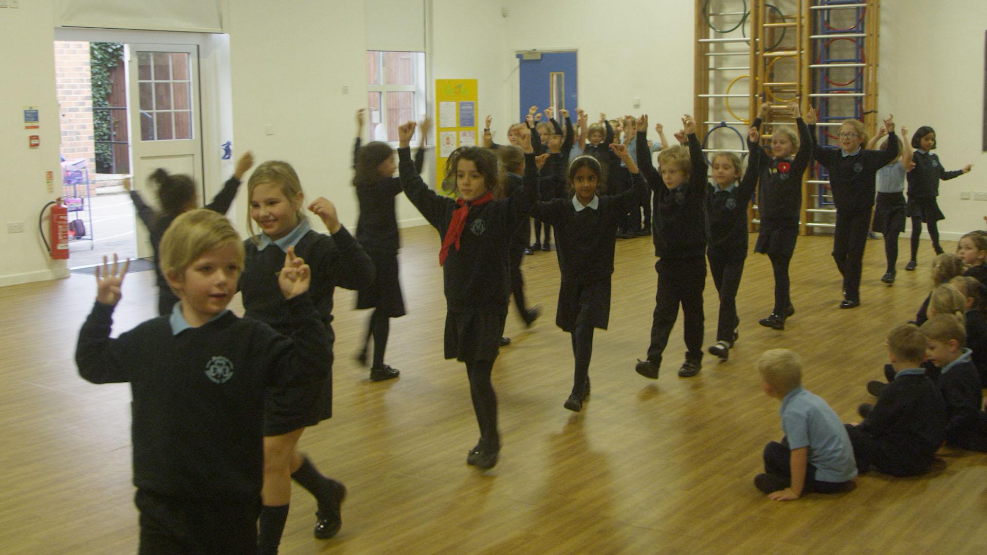 Children Learning Spanish Dance
