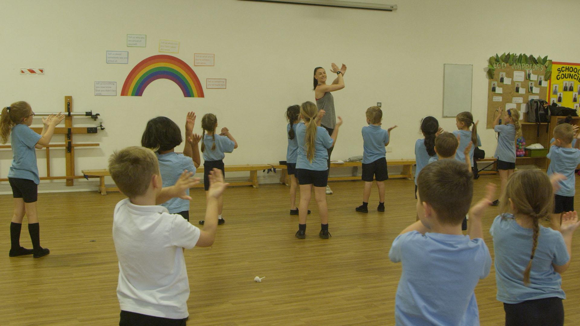 Children learning Flamenco Dance