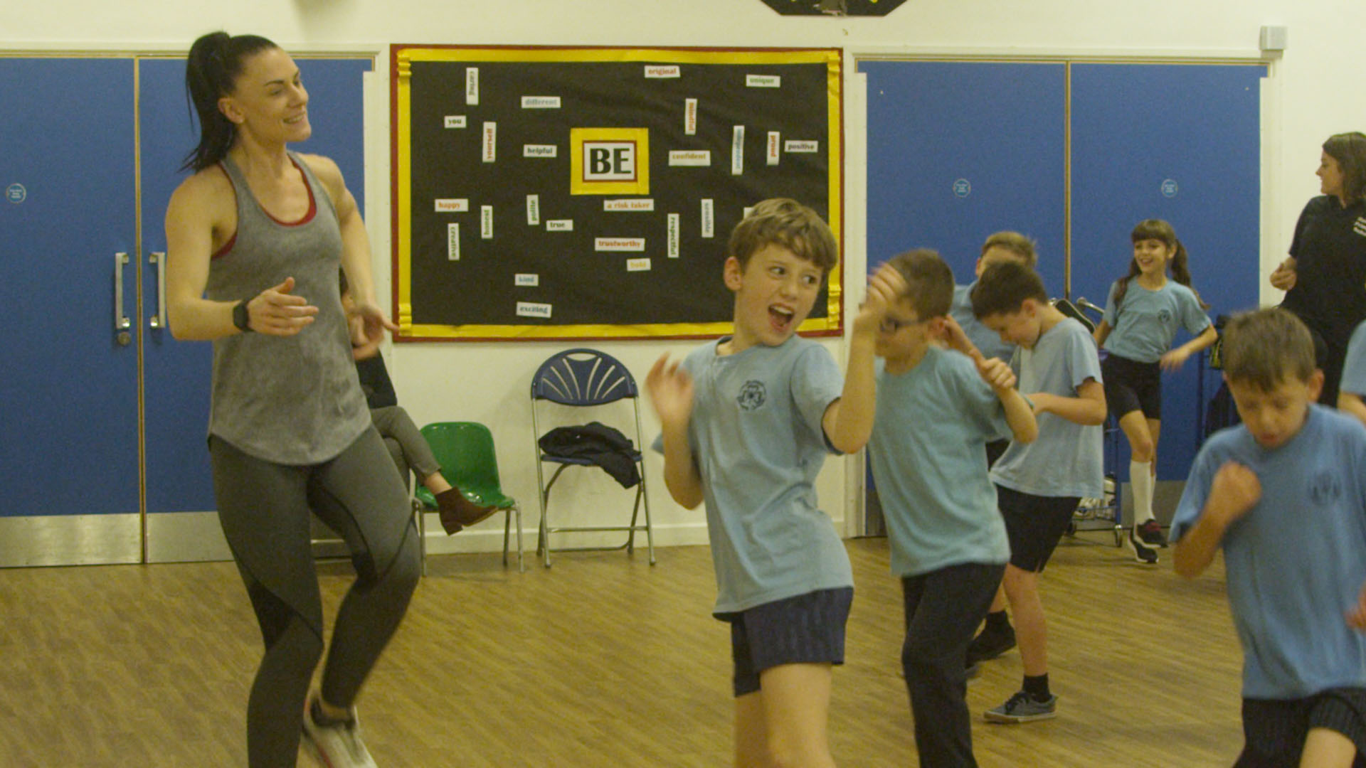 Children learning Russian Dancing
