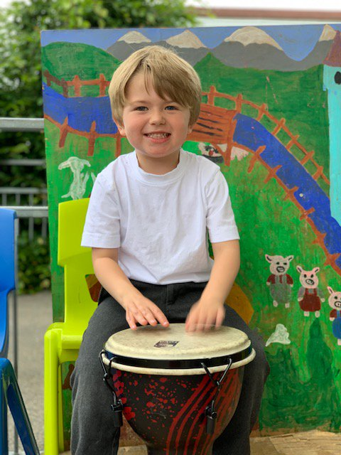 School Children drumming