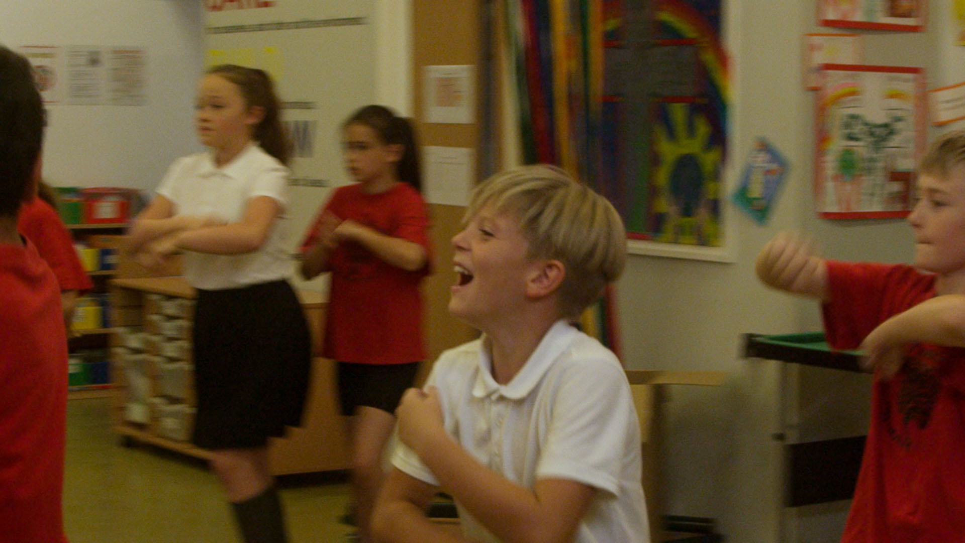 Children performing South American dance